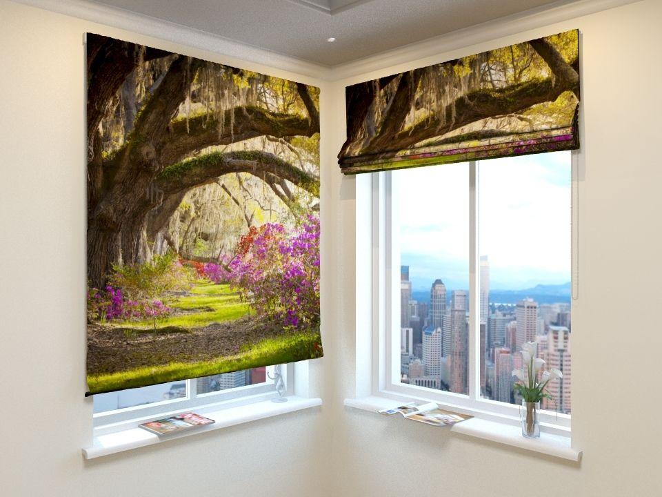 Живописные рулонные шторы с фотопечатью