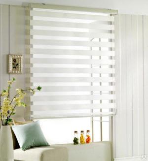 Рулонные шторы текстиль белый